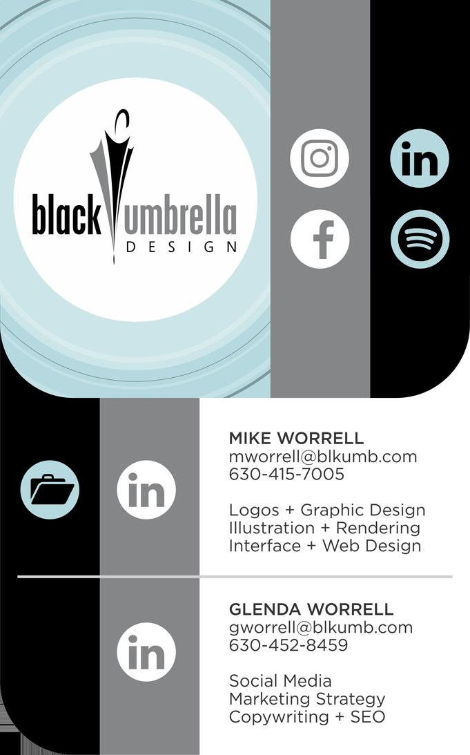 Black Umbrella Design · Logo Design · Graphic Design · Illustration